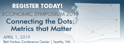 Register for the 2019 Economic Symposium on April 1st in Seattle, WA at the Bell Harbor Conference Center.