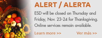 ESD closed for Thanksgiving