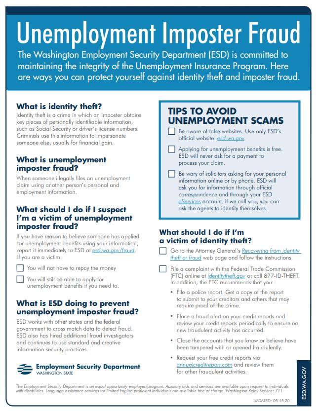 Esdwagov Unemployment Benefits Fraud
