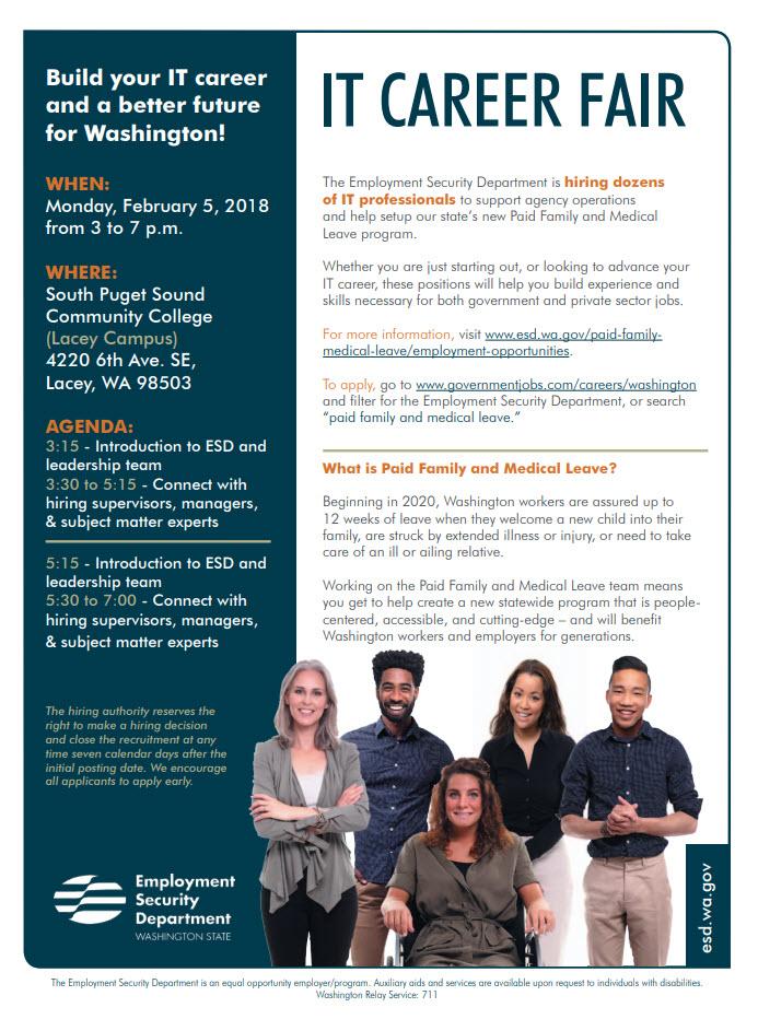 IT career fair flyer