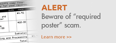 Beware of required poster scam