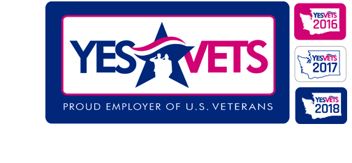 Image of Yes Vets decals for participating businesses.
