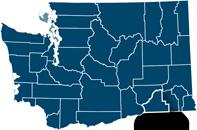 Washington state map with Walla Walla county highlighted